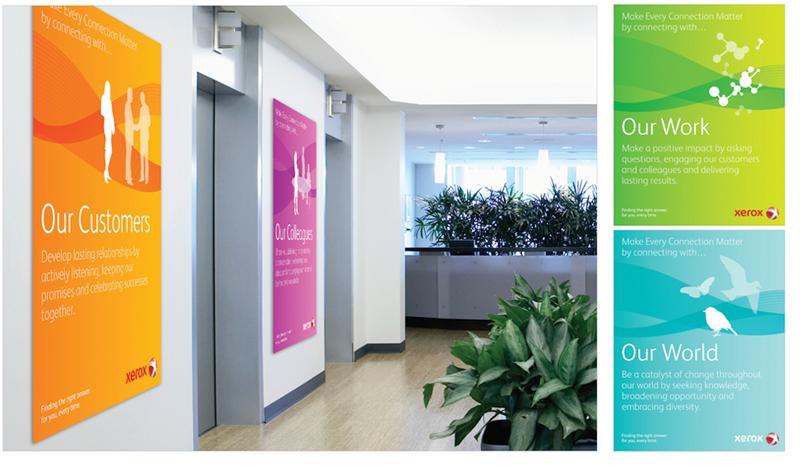 Xerox Brand Launch Posters  Jessica Hiller Designs