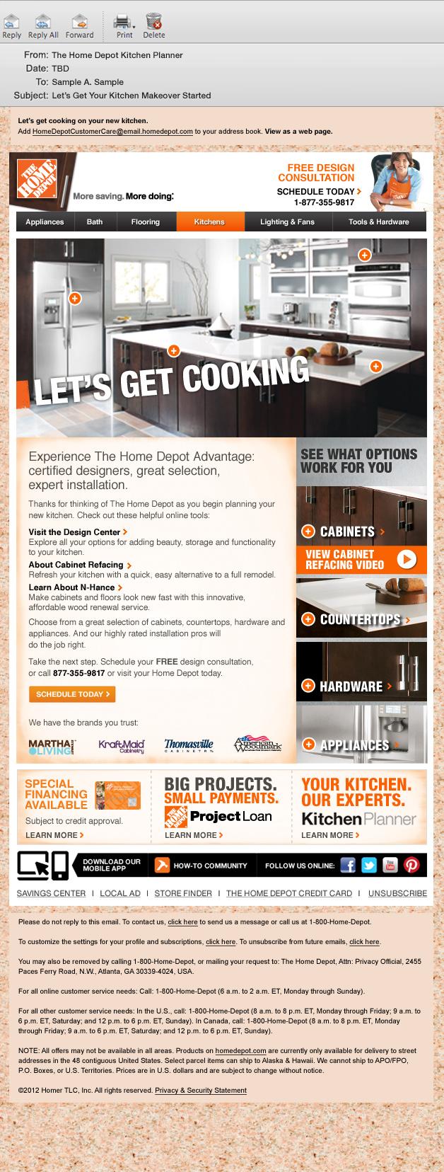 The home depot kitchen trigger series jessica hiller designs for My kitchen planner home depot